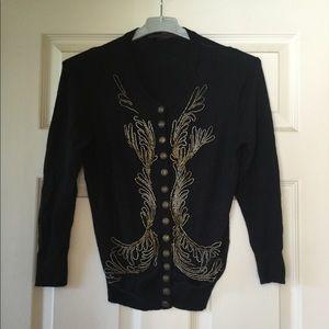 L'wren Scott black cashmere sweater